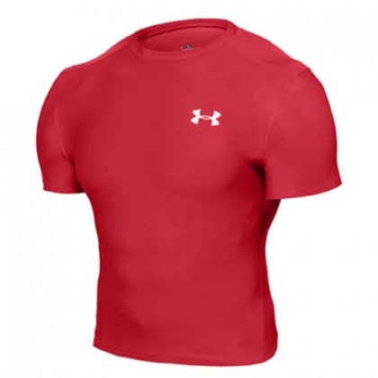 Under Armour HG Compression Full Tee - Red White
