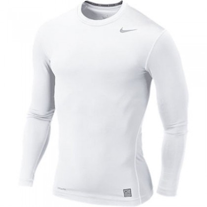 Nike Core Compression Ls Top 07 White Cool Grey