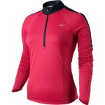 Nike NIKE SPHERE LS 1/2 ZIP TOP (W) SCARLET FIRE