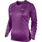 Nike Embossed Ls Top (W) Bold Berry