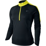 Nike Sphere Ls 1/2 Zip Top (W) Black/Sonic