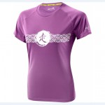 Mizuno Drylite Wave Tee W Dewberry