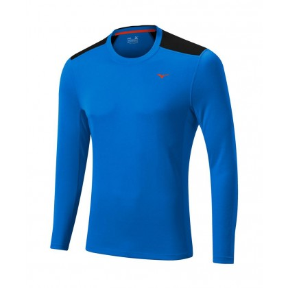 Mizuno Warmalite LS Tee Electric Blue/Black