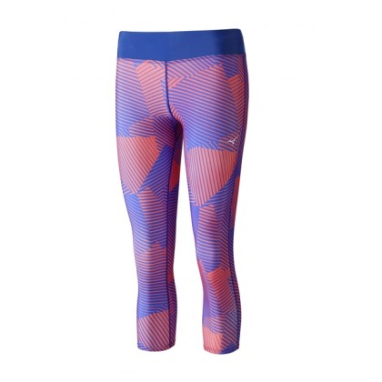 Mizuno Phenix 3/4 Tights (W) Blue/Coral
