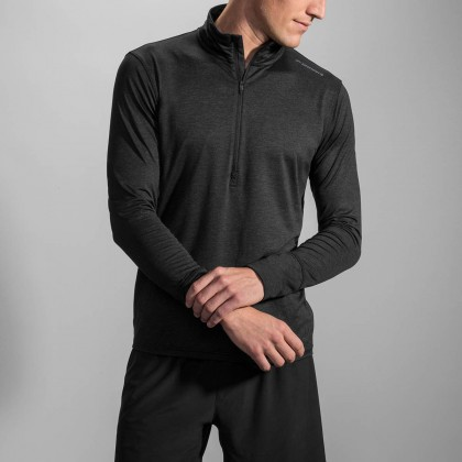 Brooks Dash 1/2 Zip ML Heather Black