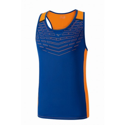 Mizuno Cooltouch Venture Singlet Nautical Blue/Clownfish